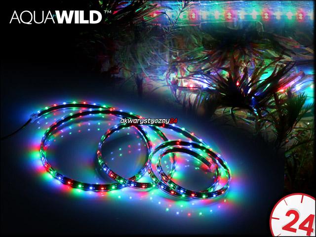 AQUAWILD Moon-Led Kolorowy [1m] | Oświetlenie nocne do akwarium, najwyższa jakość.