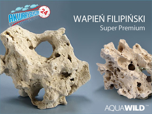 AQUAWILD WAPIEŃ FILIPIŃSKI 1kg | Wysokiej jakości drążona skała do akwarium
