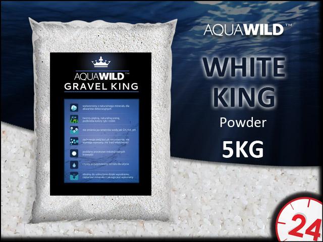 AQUAWILD WHITE KING POWDER [5kg] - Naturalny drobny żwir do akwarium w kolorze białym