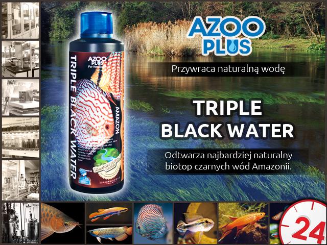 AZOO PLUS Triple Black Water 500ml - Odtwarza najbardziej naturalny biotop czarnych wód Amazonii.