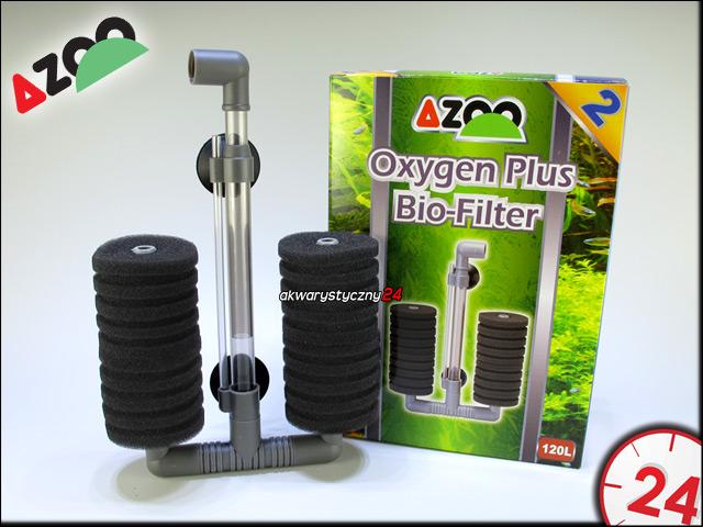 AZOO OXYGEN PLUS BIO FILTER 2 | Filtr biologiczny zasilany pompką membranową do akwarium
