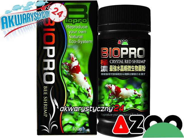 AZOO CRYSTAL RED SHRIMP BIOPRO 100g - Zaawansowany preparat bakteryjny poprawiający jakość wody w krewetkarium