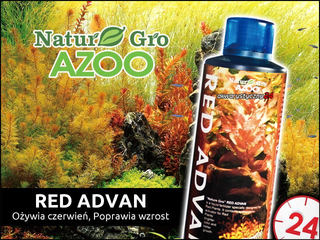 AZOO NATURE-GRO Red Advan 120ml | Koncentrat fosforanów (PO4) i aktywator antocyjanów dla wzmocnienia kolorów.