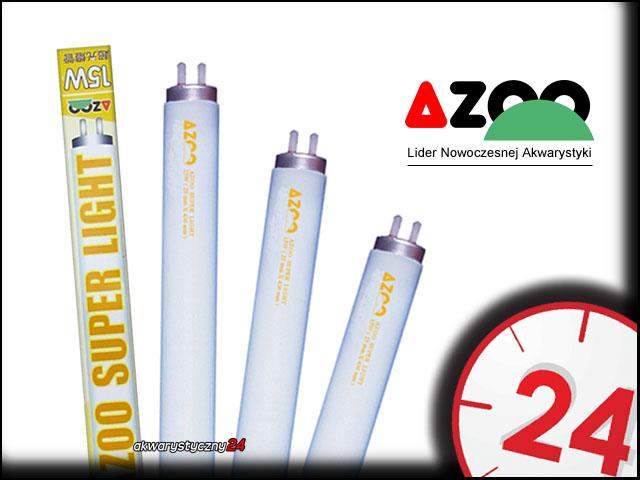 AZOO SUPER LIGHT T8 15W (44cm) - Biała, zimna świetlówka podstawowa do akwarium słodkowodnego.