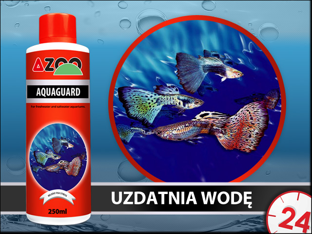 AZOO AQUAGUARD 250ml - Wydajny uzdatniacz wody kranowej do akwarium
