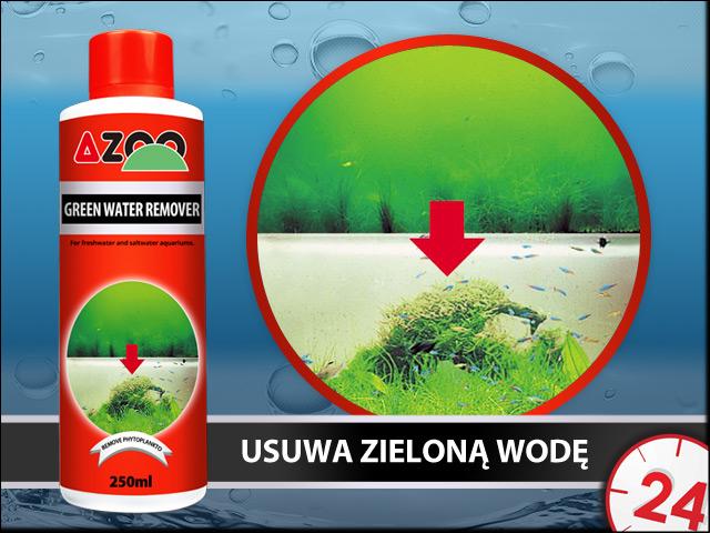 AZOO GREEN WATER REMOVER 500ml - Skuteczny preparat usuwający zieloną wodę w akwarium