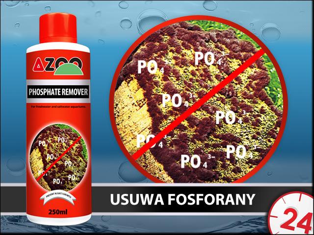 AZOO PHOSPHATE REMOVER 500ml - Szybko usuwa fosforany (PO4) w akwarium słodkowodnym i morskim