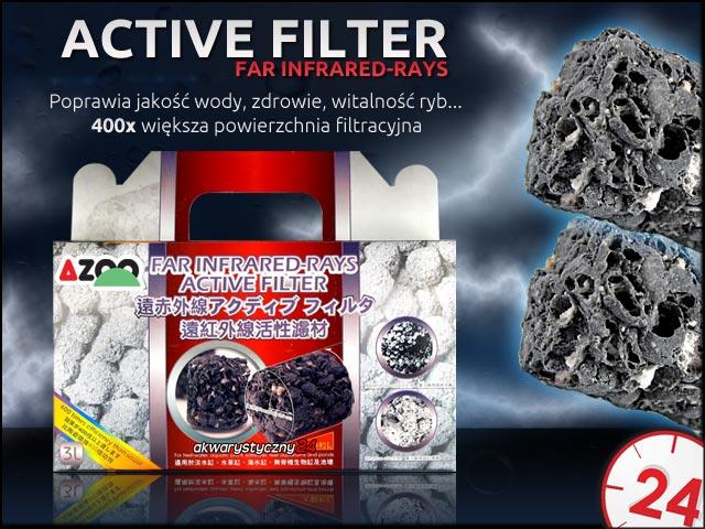 AZOO ACTIVE FILTER Far Infrared Rays (drobny) 1l - Znacząco poprawia jakość wody promując zdrowie i witalność ryb w akwarium