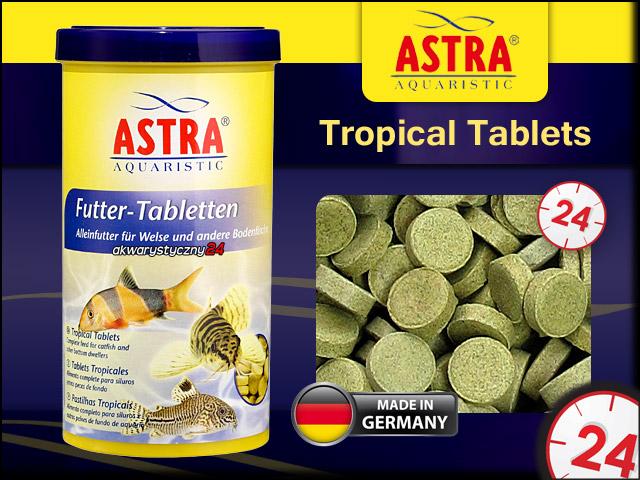 ASTRA Tropical Tablets 250ml/675Tabletek | Tabletki dla ryb dennych jak sumowate, bocje, ze wskazaniem na ryby wszystkożerne.