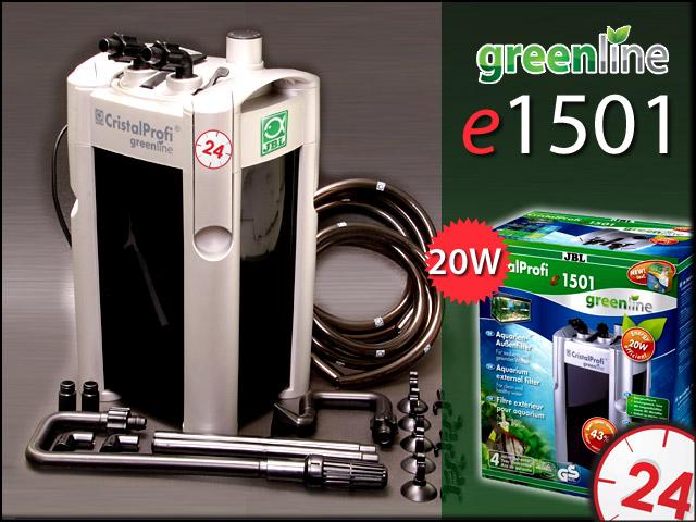 JBL CRISTALPROFI GREENLINE e1501 | Energooszczędny filtr zewnętrzny do akwarium 160-600l