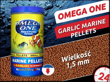 OMEGA ONE MARINE PELLETS with GARLIC [Small, Sinking] 231g