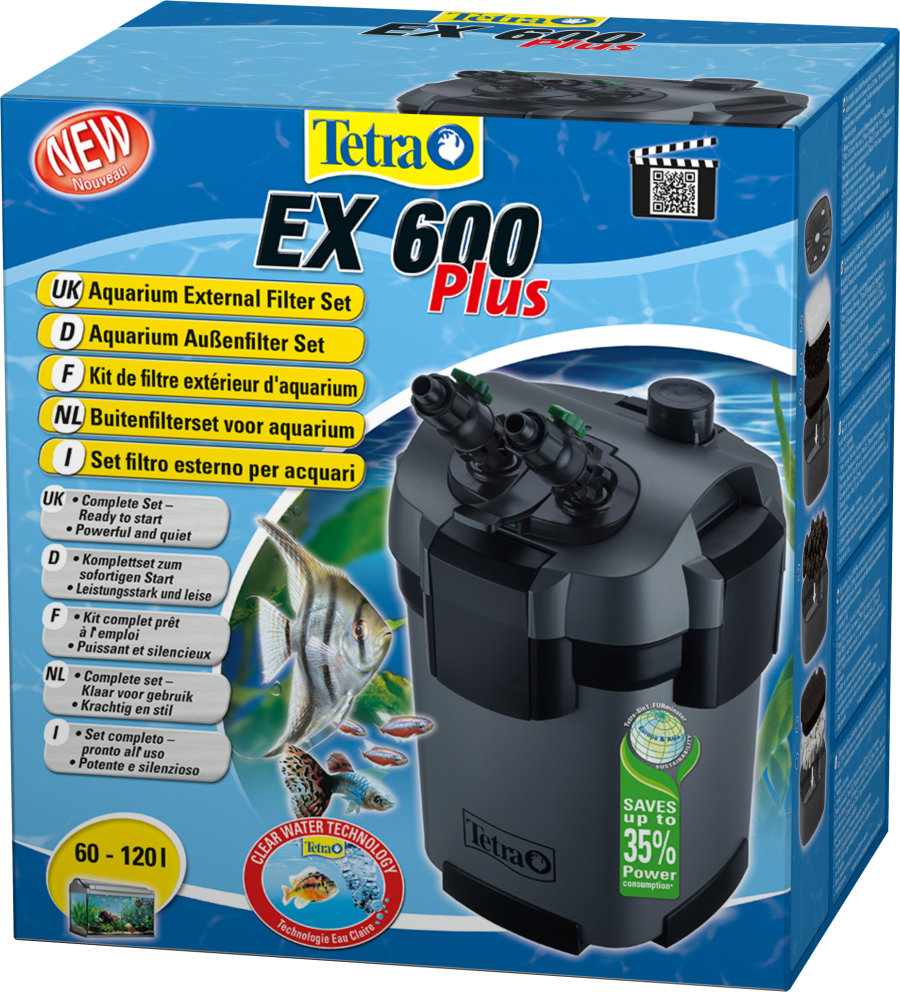 TETRA EX 600 plus - Filtr zewnętrzny do akwarium 60-120l