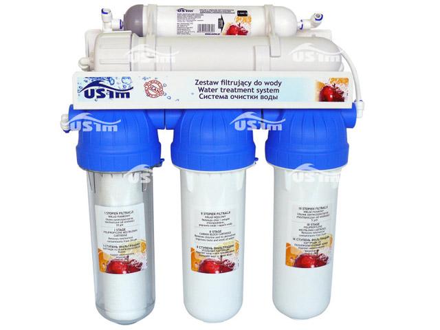 USTM Filtr RO 5 do akwarium | Pięciostopniowa odwrócona osmoza do zmiękczania wody w akwarium