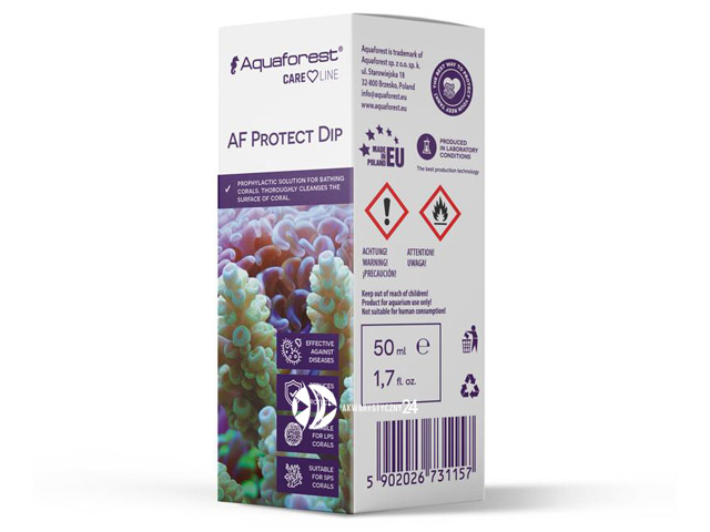Aquaforest Protect Dip 50ml | Preparat do przeprowadzania kąpieli koralowców.