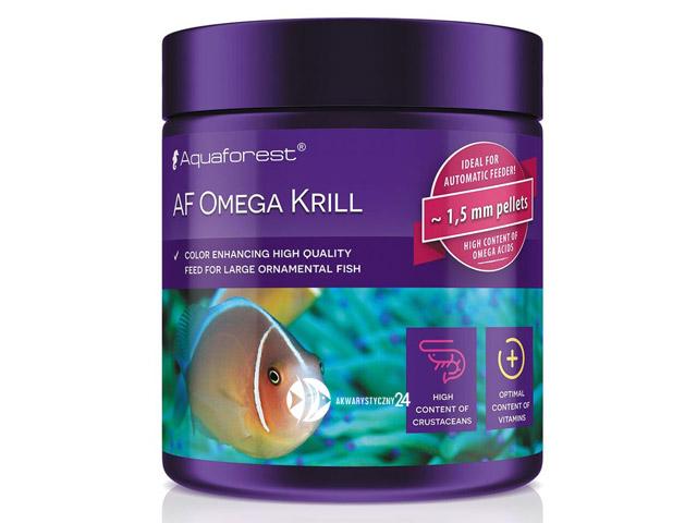 Aquaforest Omega Krill 120g | Pokarm dla ozdobnych ryb mięsożernych