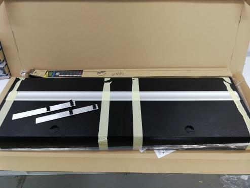 Pokrywa na akwarium 150x50cm czarna, 2x30W LED