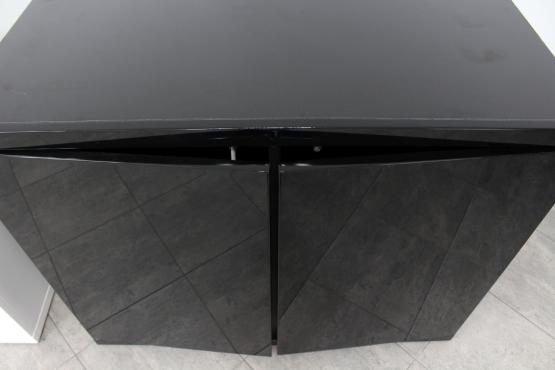 Szafka pod akwarium 100x50cm, Czarny połysk MDF
