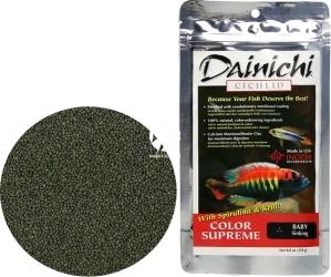 DAINICHI (Termin: 01.2022) Cichlid Color Supreme Sinking 250g baby (12302) - Silnie wybarwiający pokarm dla pielęgnic mięsożernych i wszystkożernych