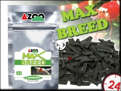 AZOO MAX BREED 20g - Najwyższej jakości pokarm dla krewetek Crystal Red stymulujący rozmnażanie