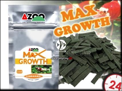 AZOO MAX GROWTH 33g - Najwyższej jakości pokarm dla krewetek Crystal Red stymulujący wzrost