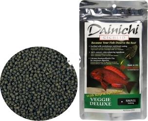 DAINICHI (Termin: 01.2022) Cichlid Veggie Deluxe Sinking 250g small (12412) - Pokarm specjalny dla pielęgnic roślinożernych