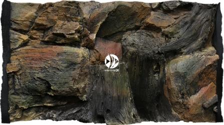 ATG Tło Korzeń (KO50x30) - Tło do akwarium z motywami korzeni i skał.