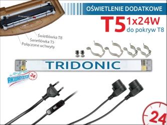 Oświetlenie dodatkowe T5 1x24W do pokrywy 60-80cm
