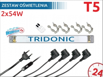 Zestaw oświetlenia 2x54W na świetlówki T5 (105cm/115cm/120cm)