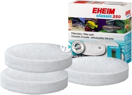 EHEIM Gąbki Białe (2616135) - Komplet 3 białych gąbek do filtra Eheim Classic 250 (2213)