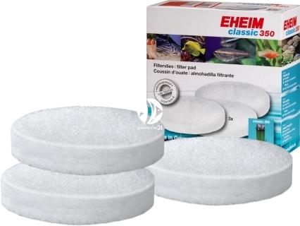 EHEIM Gąbki Białe (2616155) - Komplet 3 gąbek białych do filtra Eheim Classic 350 (2215).