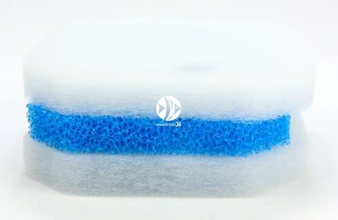 EHEIM Professionel 2222/2322 (2616220) - Komplet gąbek do filtra EHEIM Professionel 2222/2224 i termofiltrów 2322/2324 (biała + niebieska)