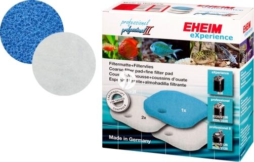 EHEIM Komplet Gąbek (2616260) - Komplet gąbek do filtra EHEIM Professionel 2226/2228, termofiltrów 2326/2328 i Professionel II 2026/2028/2126 (biała i niebieska).