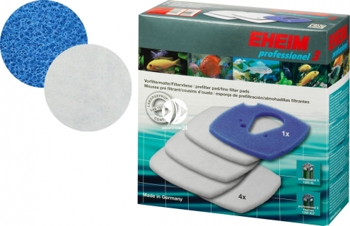 EHEIM Komplet Gąbek (2616802) - Komplet gąbek do filtra EHEIM Professionel 3 2080 i termofiltra 2180 (białe + niebieska)