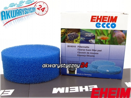EHEIM ECCO COMFORT 2232/2234/2236 (2616310) - Gąbka niebieska do filtra Eheim Ecco 2231/2233/2235 i Ecco Comfort 2232/2234/2236 (komplet 3 sztuk)