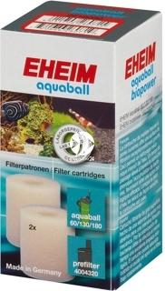 EHEIM Gąbki (2618080) - Wkład gąbkowy 2 szt. do filtra aquaball 60/130/180, biopower 160/200/240 i do prefiltra 4004320
