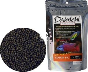 DAINICHI (Termin: 01.2022) Cichlid Color FX Sinking 500g small (12613) - Pokarm dla pielęgnic wzbogacony w 7 składników wybarwiających najwyższej jakości
