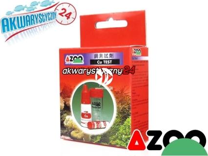 AZOO Cu TEST - Test na miedz do akwarium słodkowodnego i morskiego