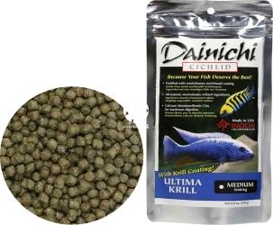 DAINICHI (Termin: 01.2022) Cichlid Ultima Krill Sinking 250g medium (12222) - Doskonale zbilansowany pokarm wspomagający szybki wzrost i prawidłowy rozwój pielęgnic