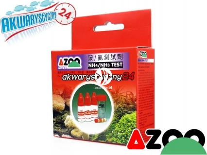 AZOO NH3/NH4 TEST - Test na amoniak/amon do akwarium słodkowodnego i morskiego