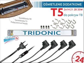 Oświetlenie dodatkowe T5 2x14W/21W/28W/35W do pokrywy do 80cm