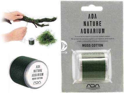 ADA Moss Cotton (106-138) - Biodegradująca nić do mocowania mchów w akwarium.