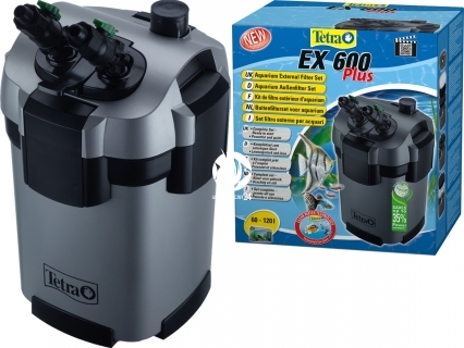 TETRA EX 600 plus (T240926) - Filtr zewnętrzny do akwarium 60-120l