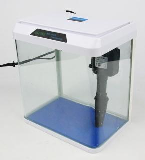 (Używany) Zestaw akwariowy 7,5L - Akwarium wyposażone w filtr i oświetlenie