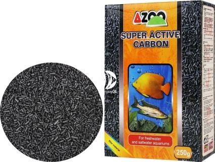 AZOO Super Active Carbon 250g (AZ80005) - Długo działający węgiel aktywny do akwarium