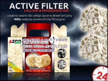 AZOO ACTIVE FILTER Calcium & Magnesium Ion (AZ16066) - Potężny wkład biologiczny, przy czym uwalnia korzystne jony pierwiastków śladowych do