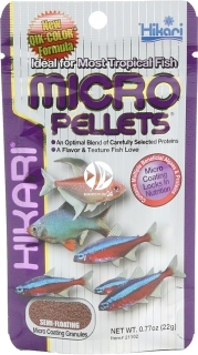HIKARI Micro Pellets (21166) - Tonący pokarm dla małych ryb tropikalnych