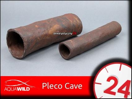 AQUAWILD PLECO CAVE (Exotic) (CRE009) - Przelotowa rurka ceramiczna dla zbrojników i sumów