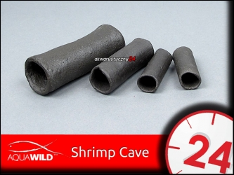 AQUAWILD SHRIMP CAVE (Gray) - Przelotowa rurka ceramiczna dla krewetek