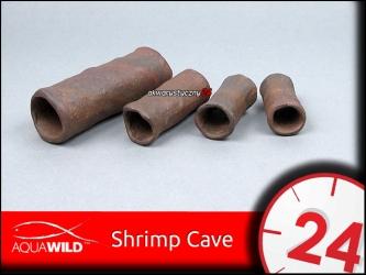 AQUAWILD SHRIMP CAVE (Exotic) - Przelotowa rurka ceramiczna dla krewetek