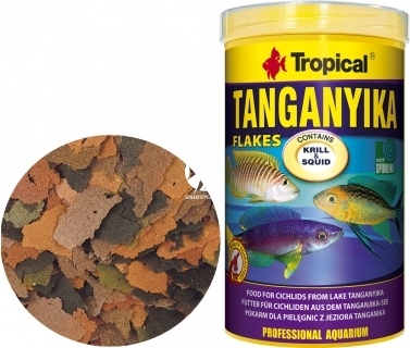 TROPICAL Tanganyika - Wieloskładnikowy, podstawowy pokarm płatkowany dla pielęgnic z jeziora Tanganika